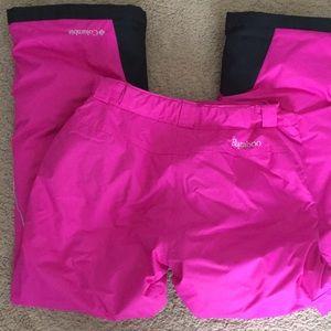 Girls bugaboo Columbia pink ski pants large 14/16